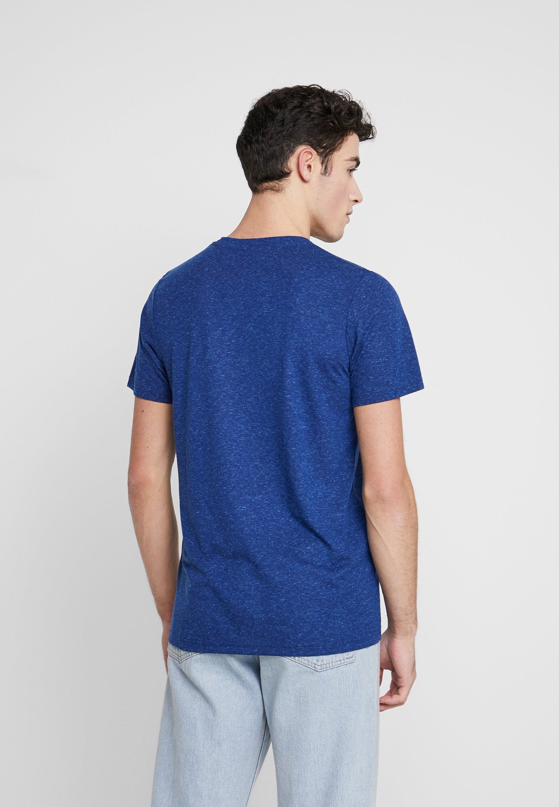 Jack & Jones JCOKAIDEN TEE CREW NECK - Print T-shirt - navy peony sWssJ