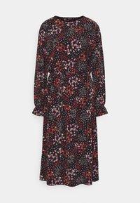 Simply Be - FLORAL MIDI DRESS - Jersey dress - black - 0