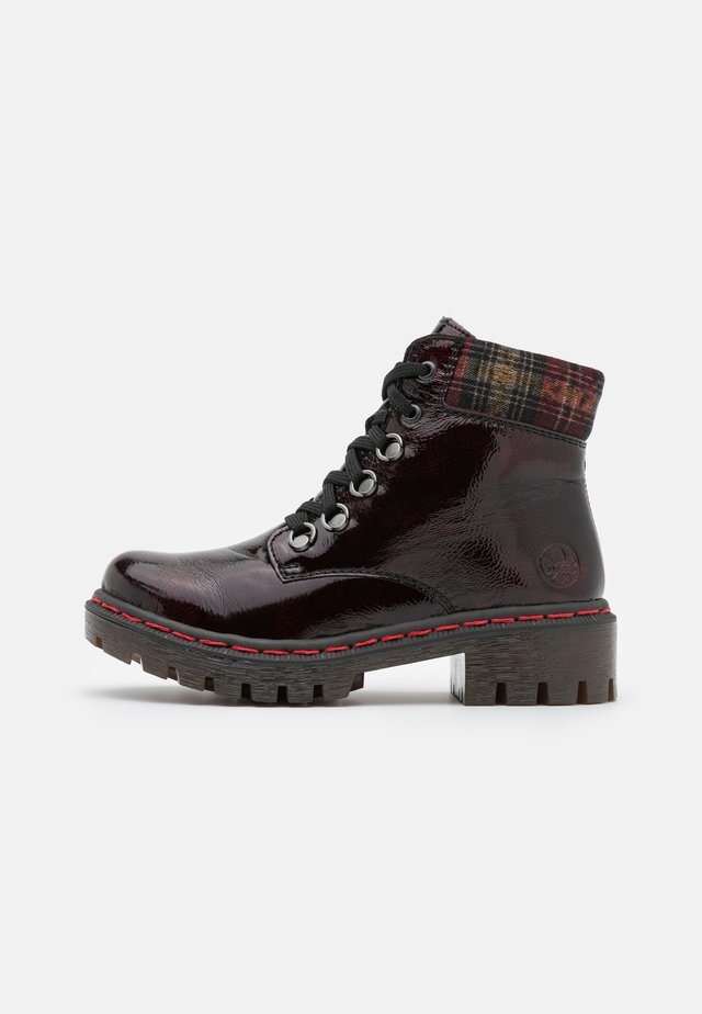 Lace-up ankle boots - bordeaux/wine