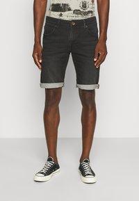 Petrol Industries - JEFFERSON - Denim shorts - black stone - 0
