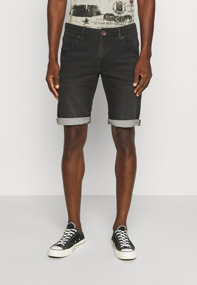 JEFFERSON - Jeansshort - black stone
