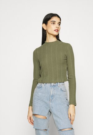 SOFT CROPPED JUMPER - Jumper - khaki