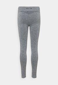 NU-IN - SEAMLESS LOGO HIGH WAIST LEGGINGS - Trikoot - grey - 1