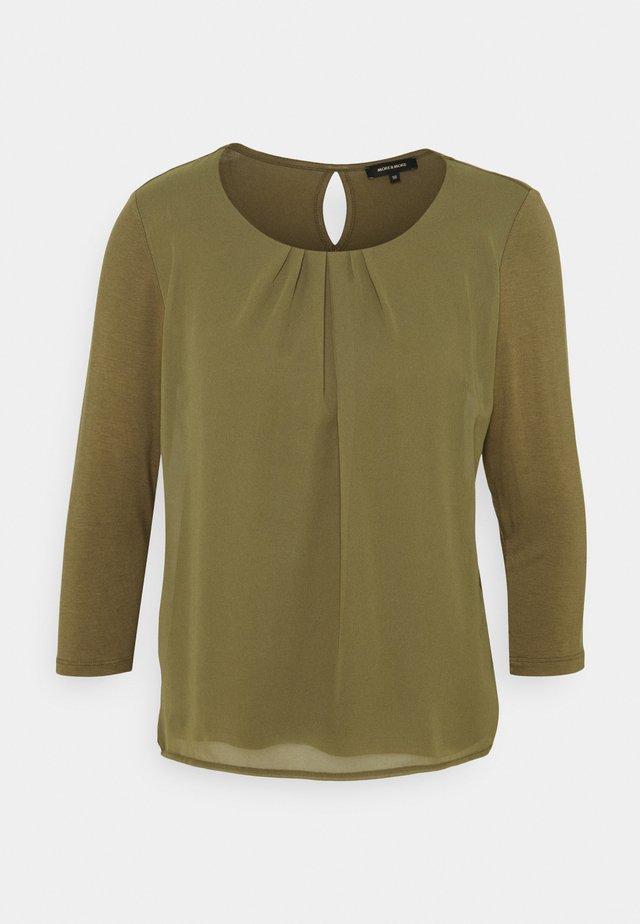 PATCHED - Langærmede T-shirts - khaki