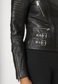 Diesel - L-IGE-NEW-A - Leather jacket - black - 3