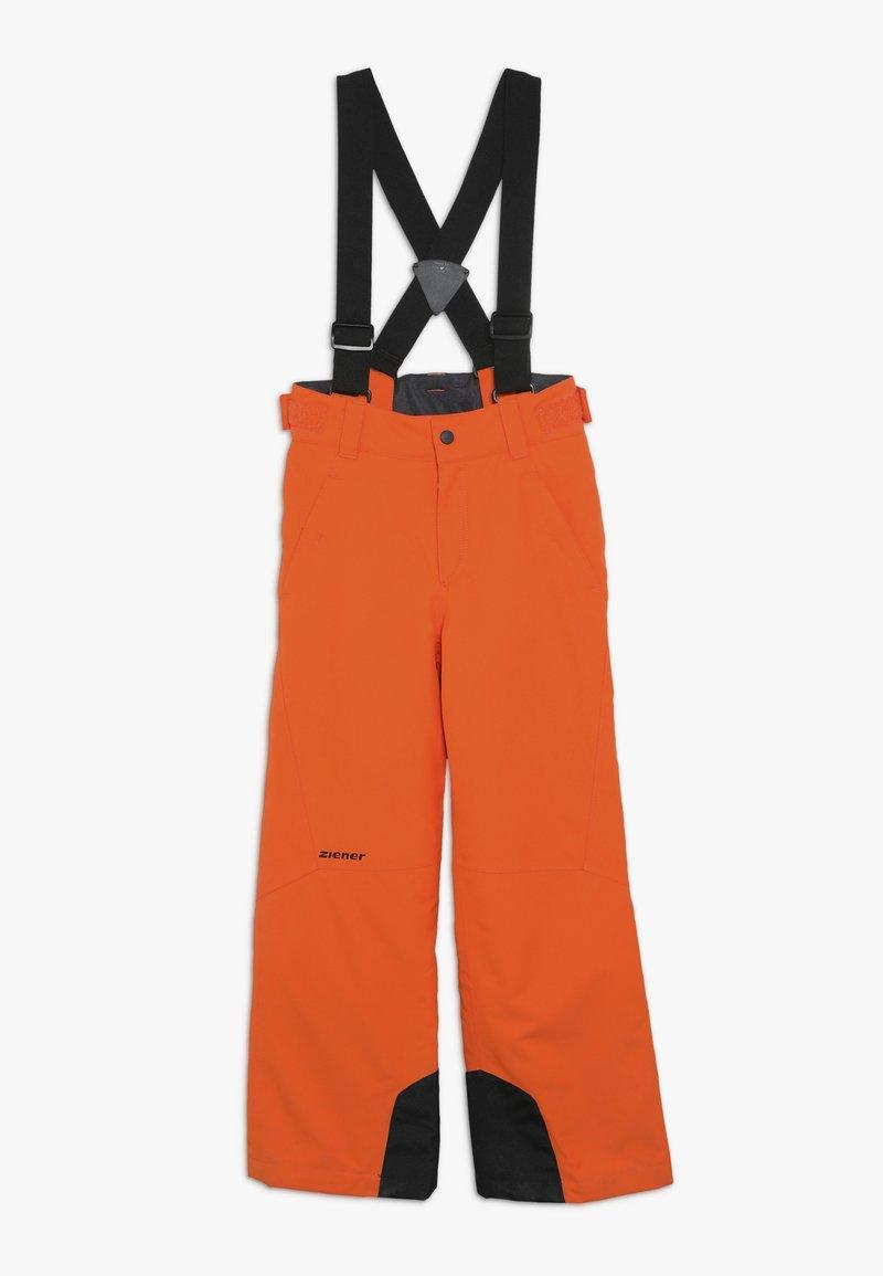 Ziener - ANDO JUNIOR - Snow pants - bright orange