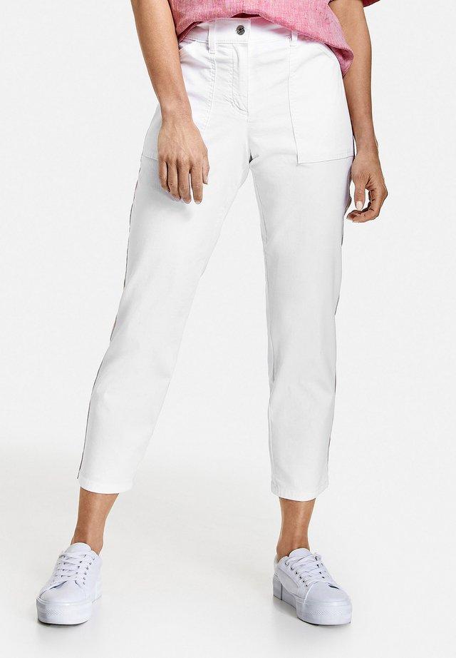 Straight leg -farkut - weiß/weiß
