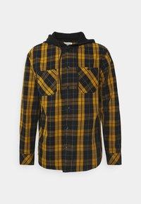 YOURTURN - UNISEX CHECK WITH HOOD  - Shirt - black/yellow - 0