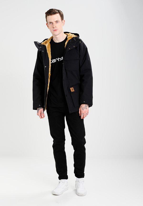 Carhartt WIP SCRIPT - T-shirt z nadrukiem - black/white/czarny Odzież Męska YNMG