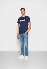 G-Star - 3301 SLIM FIT - Slim fit jeans - authentic faded blue - 1