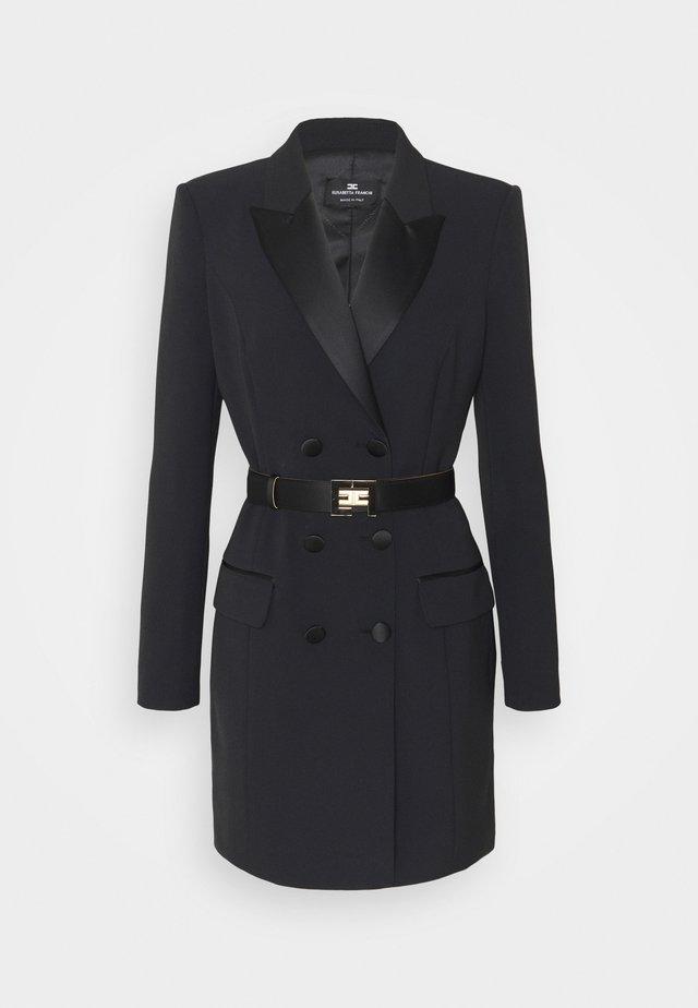 WOMEN'S DRESS WITH BELT - Fodralklänning - black