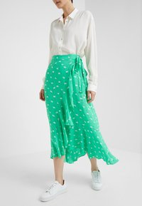 2nd Day - LIMELIGHT ANEMONE - Maxi skirt - irish green - 0