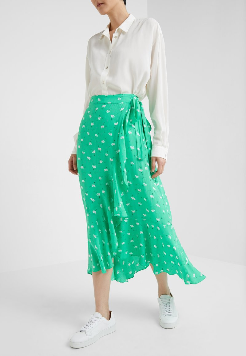 2nd Day - LIMELIGHT ANEMONE - Maxi skirt - irish green