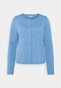 Marc O'Polo - CARDIGAN LONGSLEEVE ASHAPE WITH STRUCTURE DETAILS AND BUTTON - Cardigan - washed cornflower - 0
