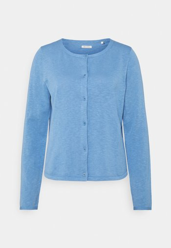 CARDIGAN LONGSLEEVE ASHAPE WITH STRUCTURE DETAILS AND BUTTON - Chaqueta de punto - washed cornflower