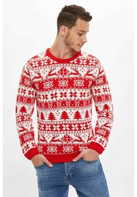 DeFacto - CHRISTMAS - Jumper - red - 2