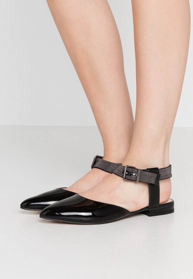 CHAIN STREET - Ankle strap ballet pumps - black