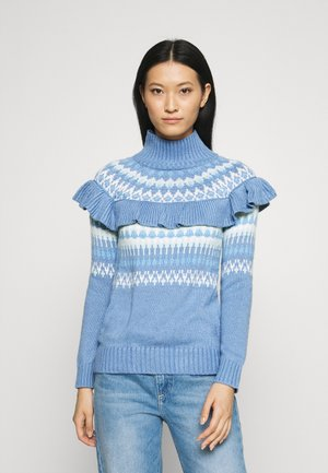FAIRISLE RUFFLE  - Jumper - blue