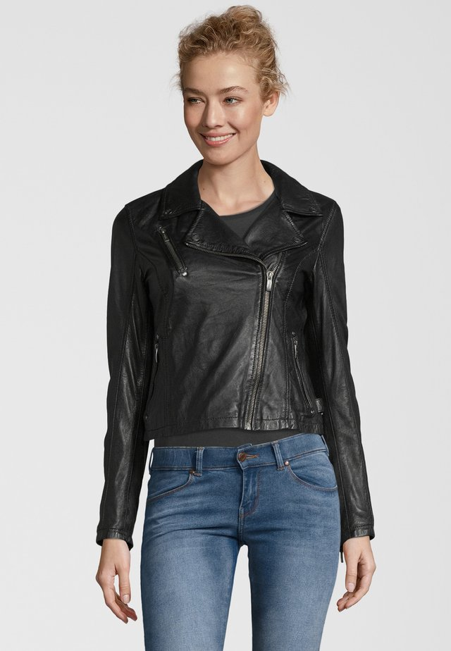 BE PRETTY - Leather jacket - black