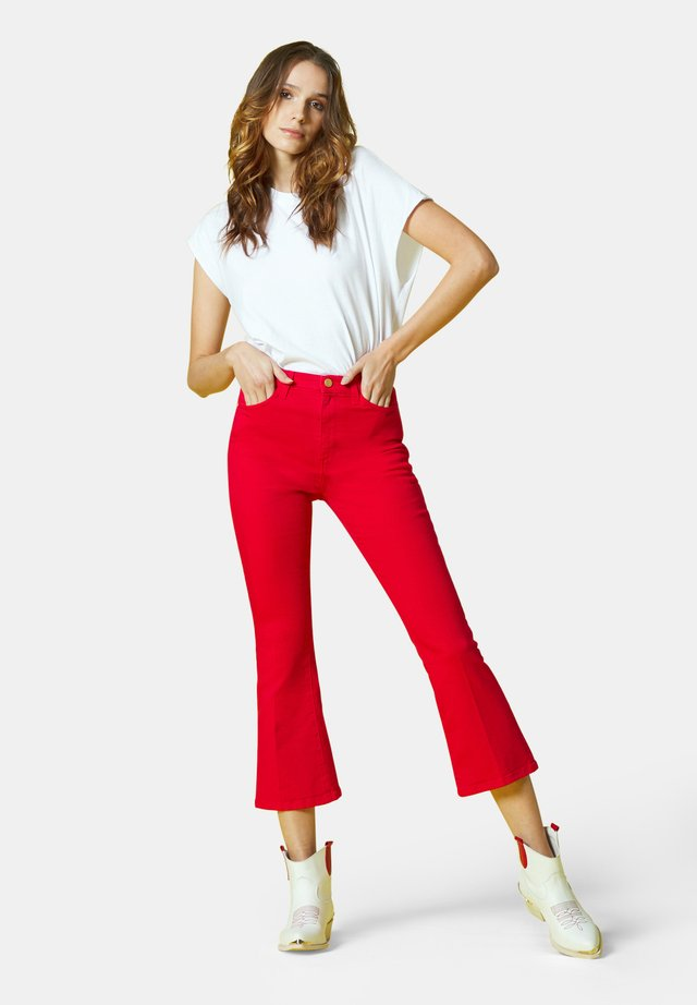Bootcut jeans - rosso