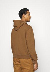 WAWWA - UNISEX LEAF HOOD - Sweatshirt - bark brown - 2