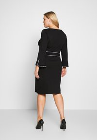 Anna Field Curvy - Jersey dress - black/white - 2