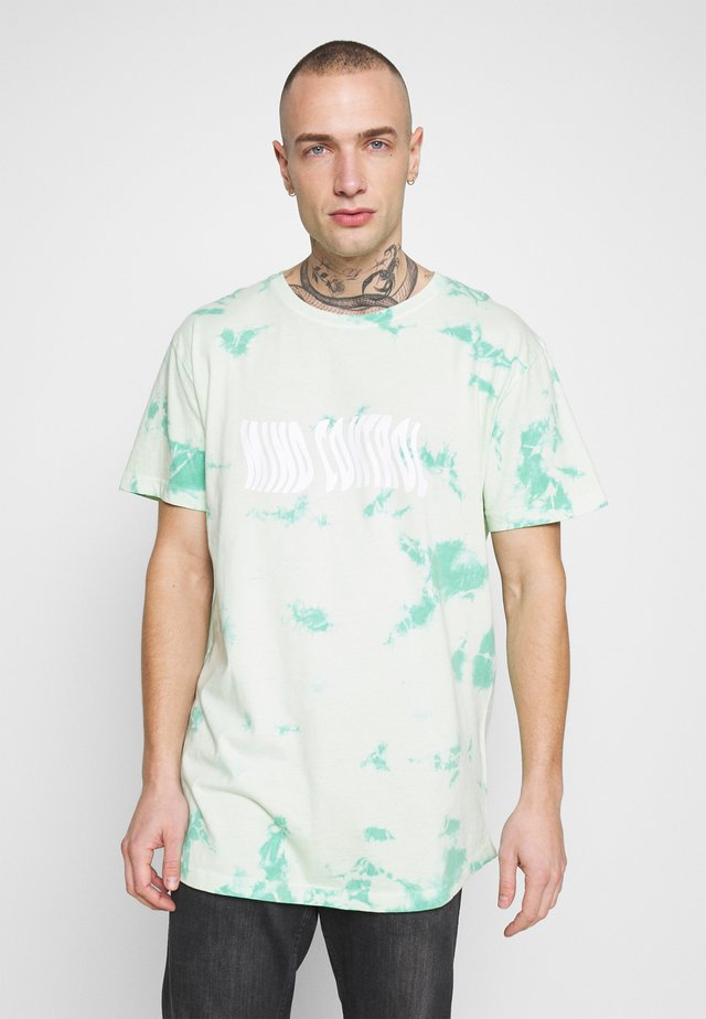 MIND CONTROL ROUNDED TEE - T-shirts med print - mint/white