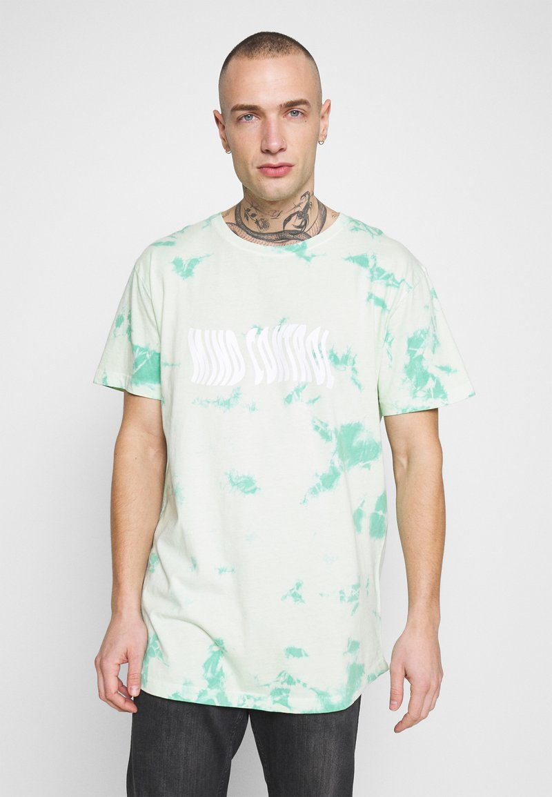 Cayler & Sons - MIND CONTROL ROUNDED TEE - Print T-shirt - mint/white
