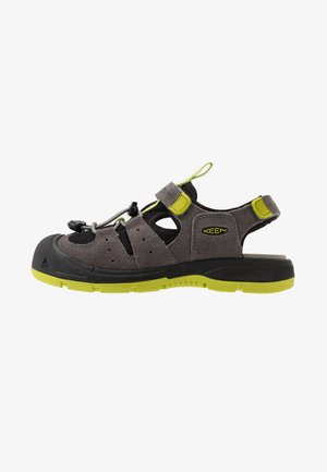 BALBOA - Walking sandals - steel grey/chartreuse
