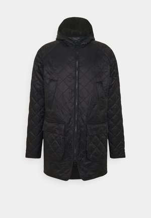 HOODED QUILTED BEDALE - Light jacket - black
