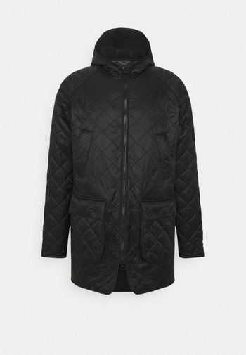 HOODED QUILTED BEDALE