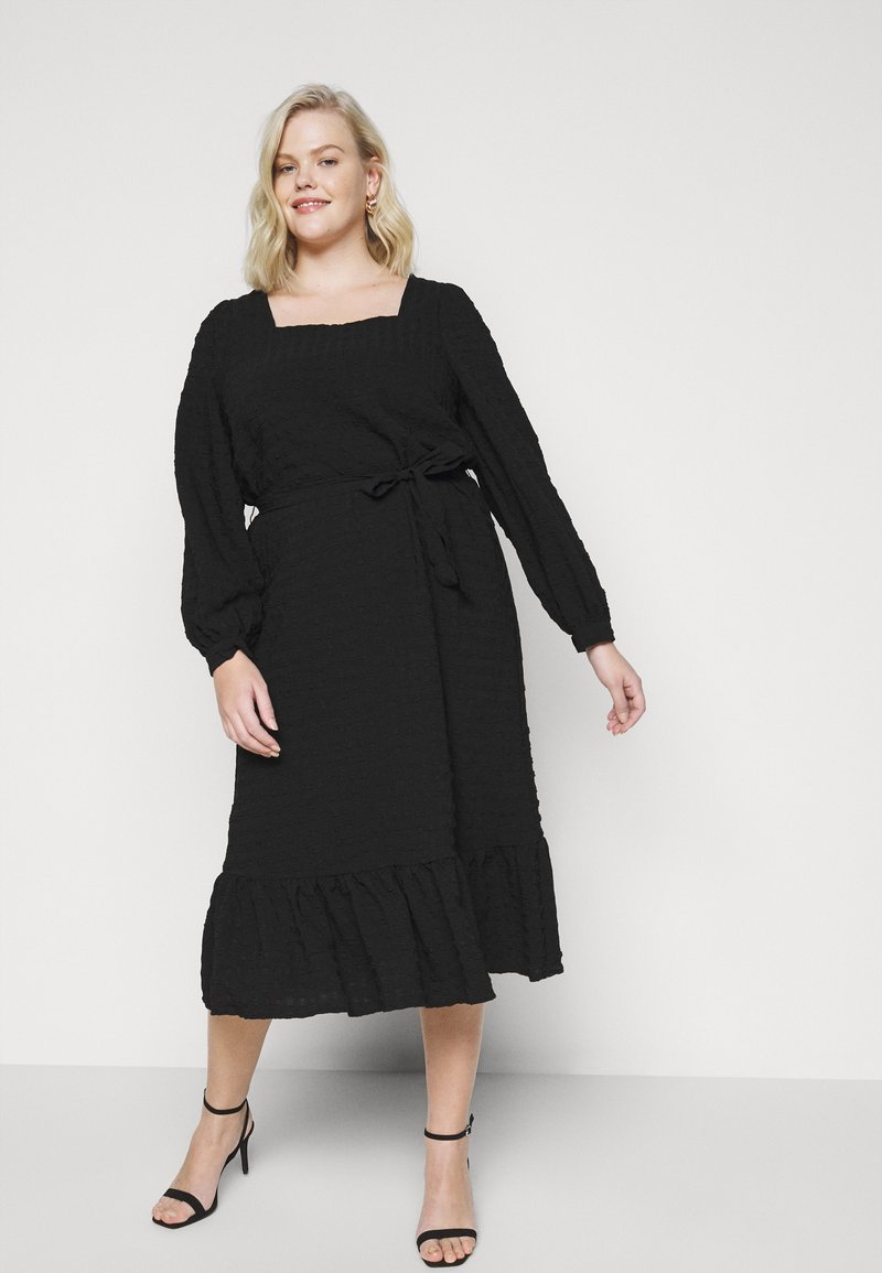 Pieces Curve - PCKUMA MIDI DRESS - Day dress - black