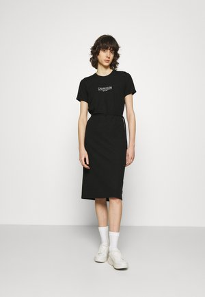 LOGO DRESS - Jersey dress - black