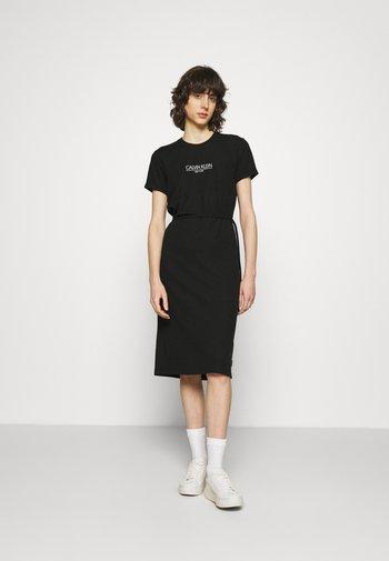 LOGO DRESS - Jersey dress - black