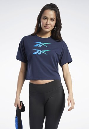 BOXY T-SHIRT - Print T-shirt - blue