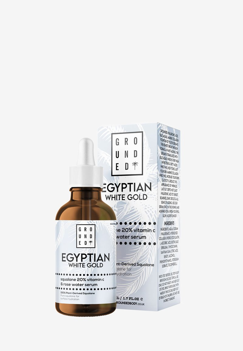 Grounded - EGYPTIAN GOLD WHITE – SQUALENE, VITAMIN C 20% AND ROSE WATER - Serum - white