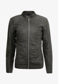 Lindbergh - BIKER JACKET - Leather jacket - grey - 4