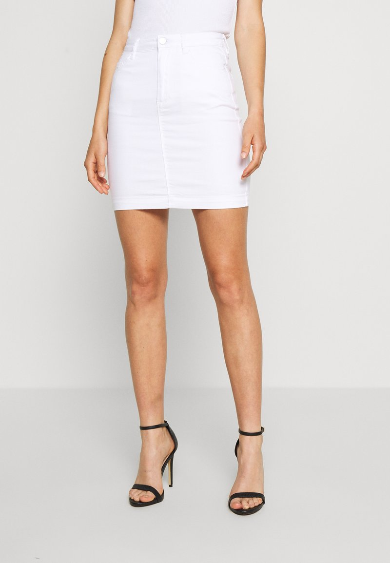 Missguided - SUPER STRETCH SKIRT - Jupe crayon - white