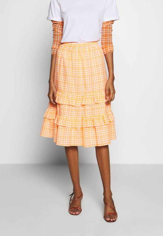 TRUDY SKIRT - Gonna a campana - neon orange