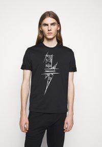 Neil Barrett - SCRIBBLE BOLT - T-shirt con stampa - black/white - 0