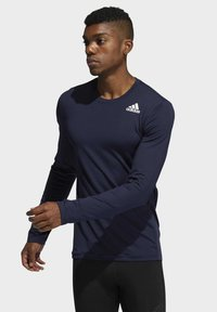 adidas Performance - Turf PRIMEGREEN TECHFIT WORKOUT COMPRESSION LONG SLEEVE T-SHIRT - Sports shirt - blue - 0