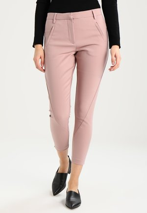 ANGELIE ZIP - Trousers - fawn jegging