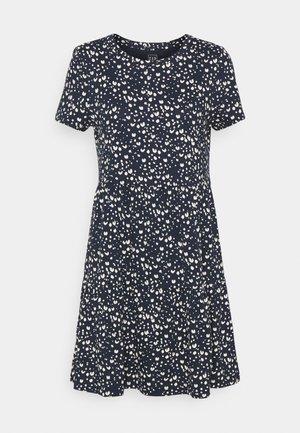 TIERED  - Jersey dress - navy