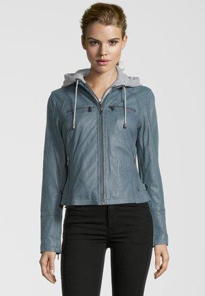 BE COURAGED - Veste en cuir - blue