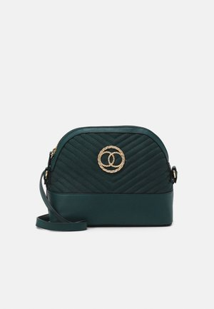 FLORA QUILTED KETTLE - Across body bag - dark green
