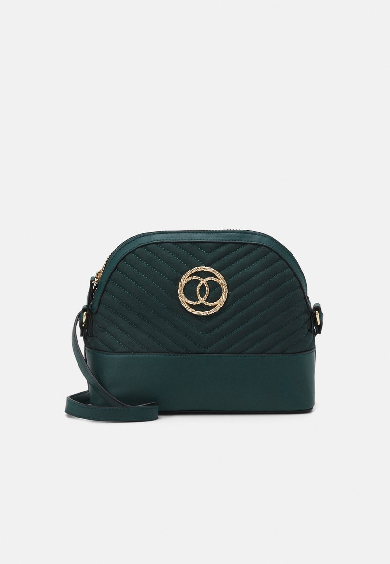 New Look - FLORA QUILTED KETTLE - Across body bag - dark green