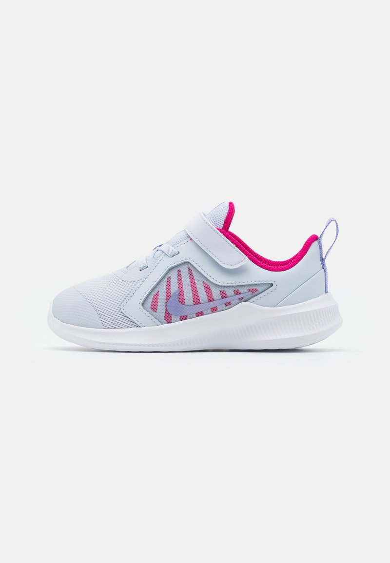 Nike Performance - DOWNSHIFTER 10 UNISEX - Neutral running shoes - football grey/purple pulse/thunder blue/white