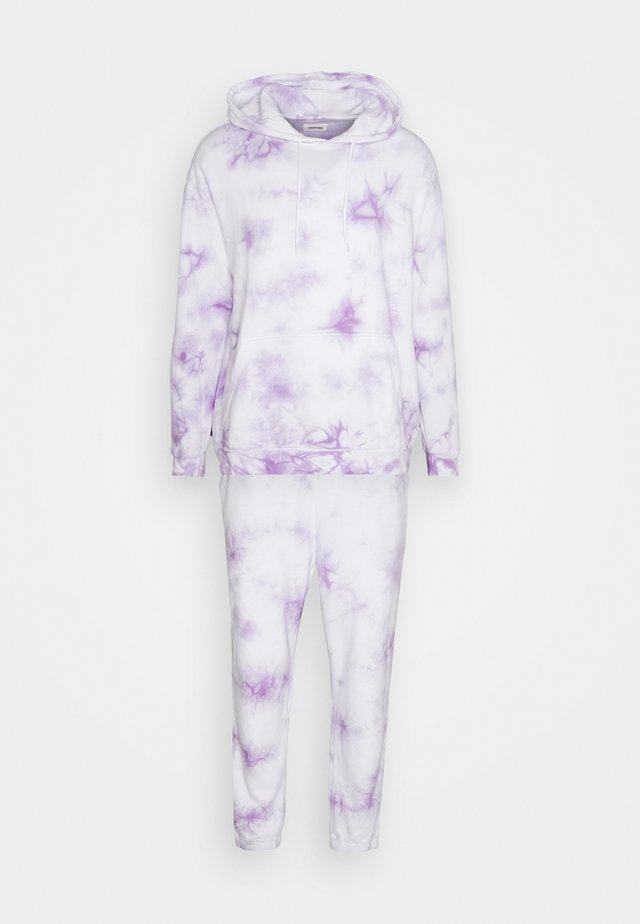 unsisex SET - Sweatshirt - lilac/white