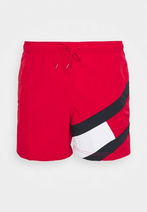 SOLID FLAG DRAWSTRING - Swimming shorts - red