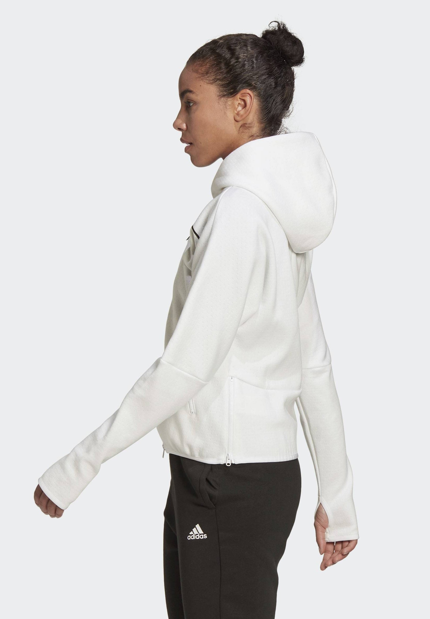 Best Selling Women's Clothing adidas Performance ADIDAS Z.N.E. HOODIE Zip-up hoodie white Czw7qIMDr